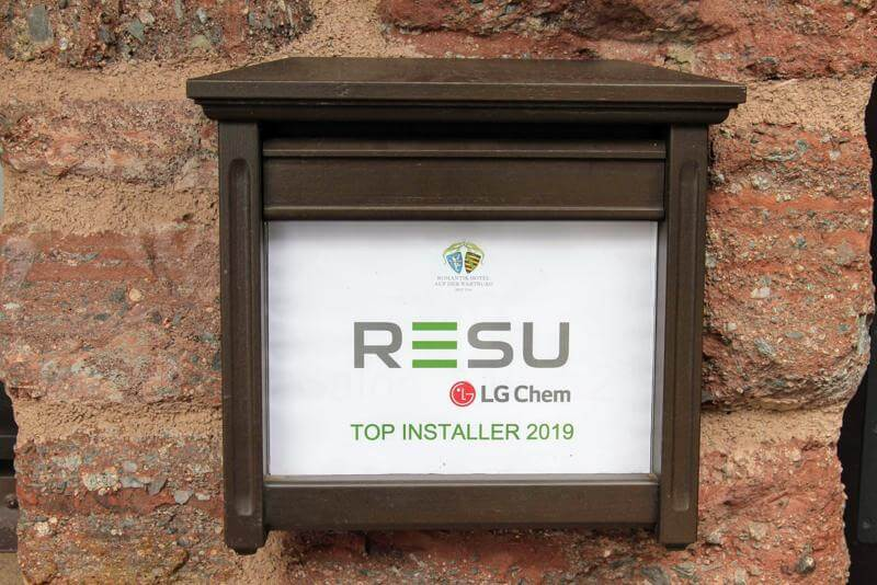 LG Energy Solution RESU Top Installer Event 2019