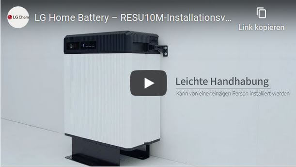 Video Tutorial - LG Chem RESU10M Stand Type Installation