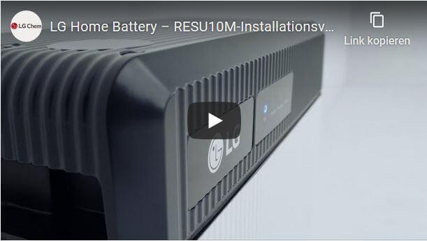 Video Tutorial - LG Energy Solution RESU10M Wall Mount Installation