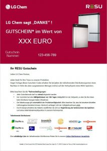 LG Energy Solution RESU Gutschein